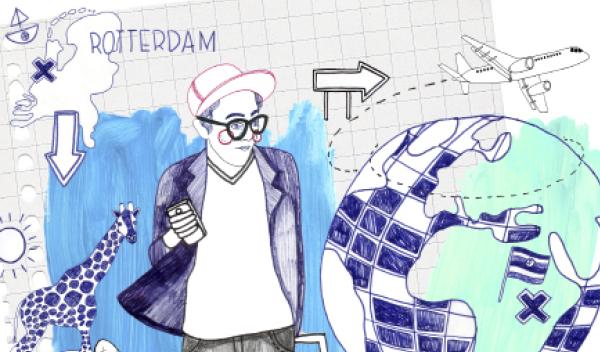 illustratie Stage of studie in het buitenland