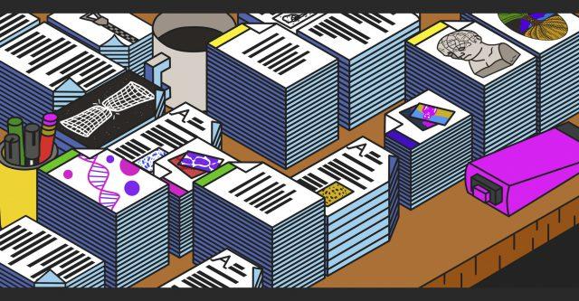 Illusrratie van stapels documenten