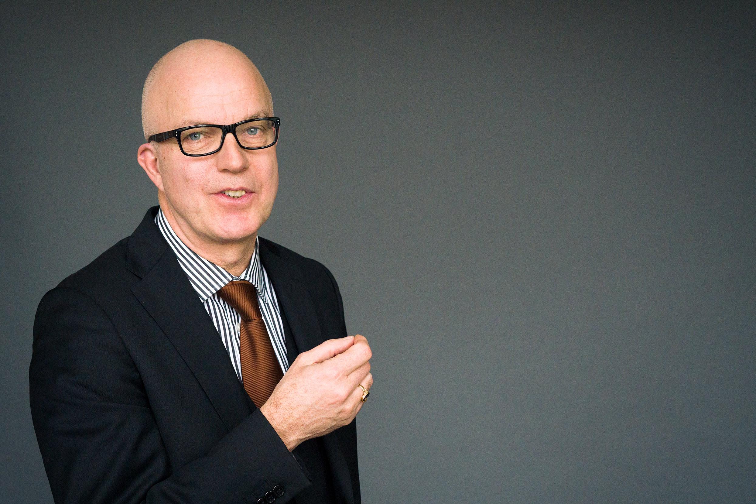 Portret cvb-voorzitter Ron Bormans