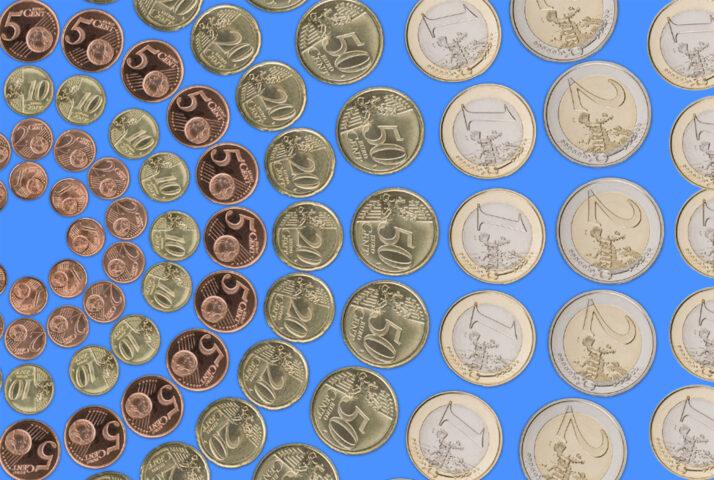Mandala van Euromunten door Demian Janssen