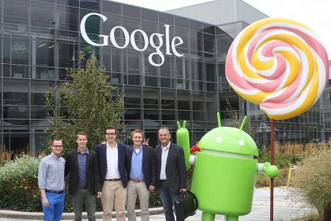 Groepsfoto voor kantoor Google
