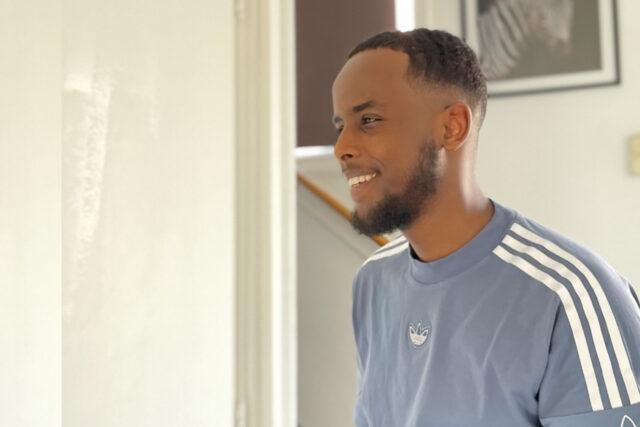 Portret van Hassan Abdi