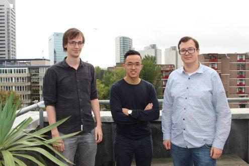 Rutger, Jerry en Jeroen werkten tijdens de minor Game Design met tien andere studenten aan de succesvolle game Pool Party Panic.