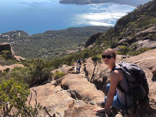 Foto van Marielle in Tasmanie met een prachtig uitzicht