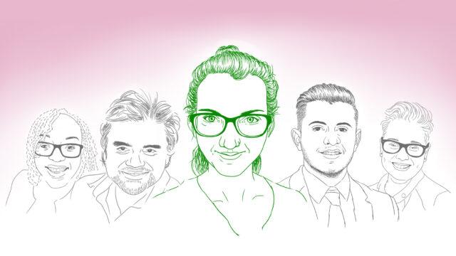 Geïllustreerd portret van blogger Nikky
