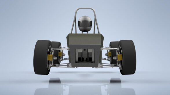 model van het formula student-voertuig