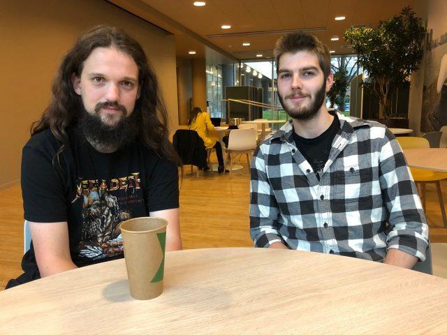 Rick (links) en Vincent, studenten van de minor geweld