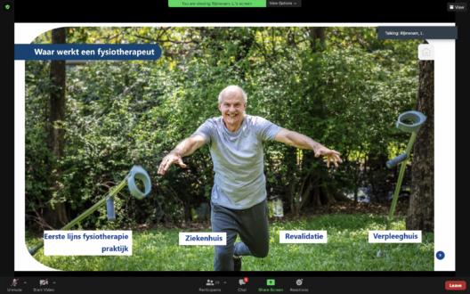 Screenshot webinar fysiotherapie