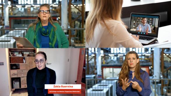 collage van foto's van onder meer Tineke Muller en Danielle Stolk