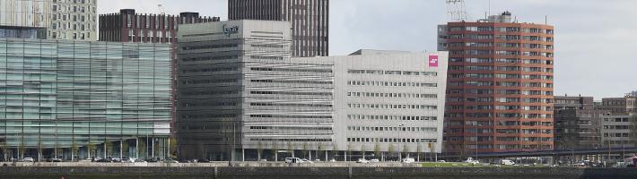 Het gebouw van Zadkine aan de Posthumalaan