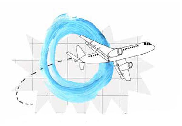 illustratie van een vliegtuig buitenland-for-dummies