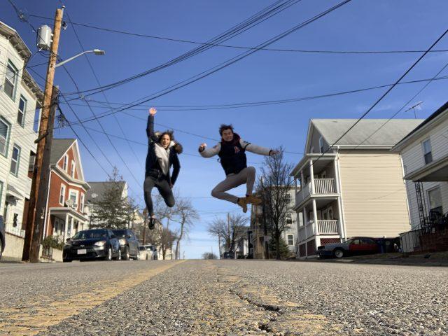Foto van Joep in Boston