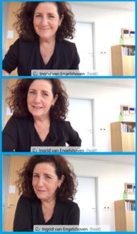 Screenshots uit het video-interview met minister Van Engelshoven