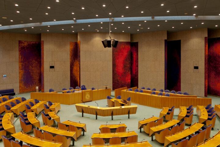 De vergaderzaal van de Tweede Kamer
