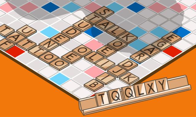 Illustratie van scrabble spel
