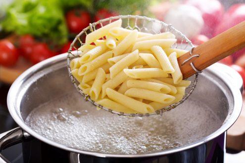pasta in een pan