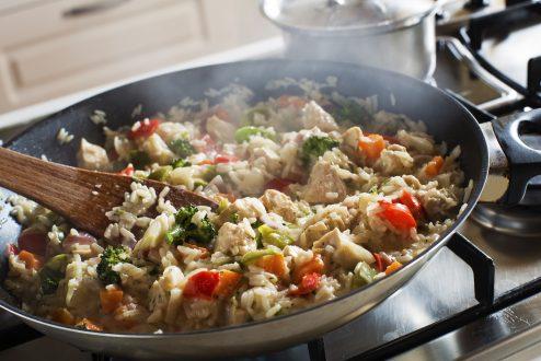 risotto met spinazie en tomaat